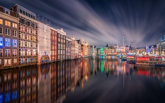 Damrak Amsterdam van Michiel Buijse