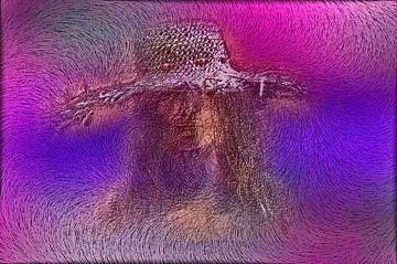 vrouw met strooi hoed-woman with sprinkle Hat-femme avec saupoudrer Hat- van aldino marsella