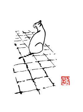 Katze auf Terrasse 02 von philippe imbert