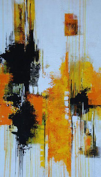 Abstrakt Nr.30 Sonnengelb von Claudia Neubauer