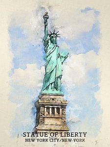 Vrijheidsbeeld van Printed Artings