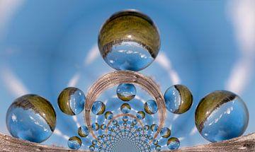 Caleidoscopisch patroon van een landschap van 3QuarksMedia