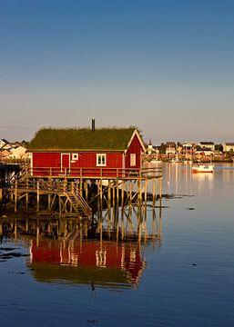 Cabane de pêche dans les îles Lofoten sur Anja B. Schäfer