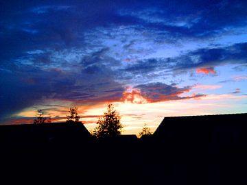 Blauwe lucht van Frank Kleijn
