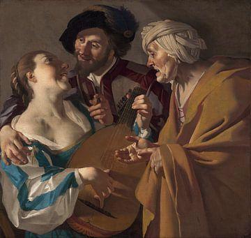 Dirck van Baburen, De Koppelaarster - 1622 von Atelier Liesjes