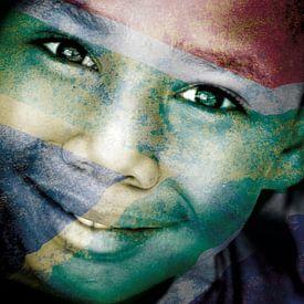 Mixed art: Zuid-Afrikaans jongetje van Heleen van de Ven