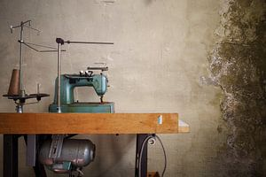 Nähmaschine mit Zerfall