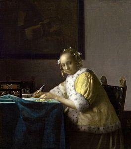 Schrijvende dame, Johannes Vermeer