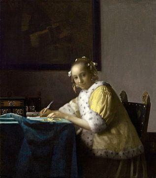 Dame, Schreiben, Johannes Vermeer von