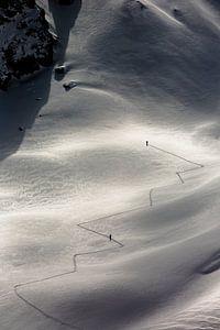 Ski touren in Vorarberg. St Anton.