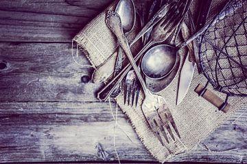 Couverts rustiques en argent 11399333 sur BeeldigBeeld Food & Lifestyle