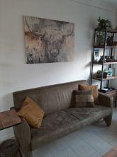 Kundenfoto: Hochlandkuh II von Atelier Paint-Ing, auf holzdruck