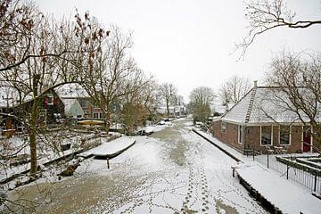 Winter in Hosen im Wasserland in den Niederlanden von Nisangha Masselink