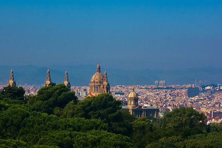 Barcelona uitzicht vanaf Montjuic