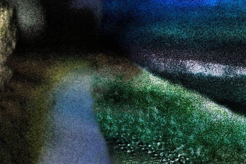 abstract landschap 2 van Hanneke Luit