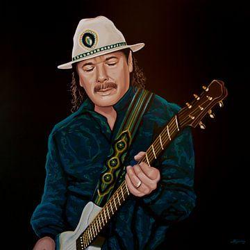 Carlos Santana Schilderij van Paul Meijering