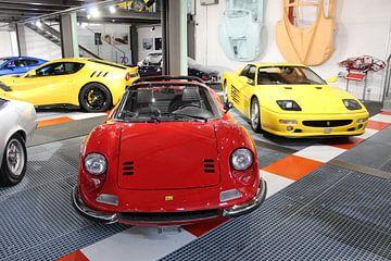 Une Ferrari Dino 246 et une Ferrari 550 Maranello sur Marvin Taschik