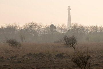 Abstracte foto van de vuurtoren van Ameland van Tonko Oosterink