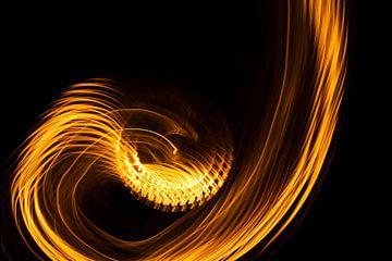 Abstrakte Kunst--Flamme-01 von Katja Goede