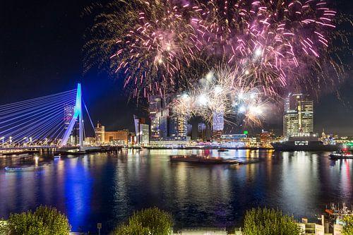 Vuurwerk in Rotterdam 1 van Prachtig Rotterdam