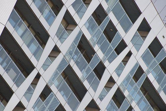 Architectuur van Calypso in Rotterdam van Mark De Rooij