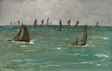 Boote in Berck-sur-Mer, Edouard Manet
