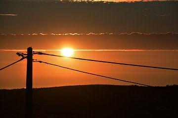 Zonsondergang in Portugal van Kelvin Middelink