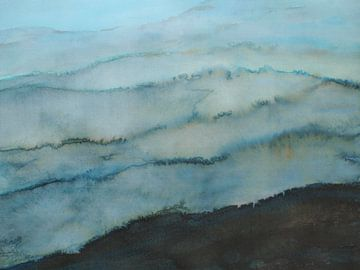 Blaue Berge von Ineke de Rijk