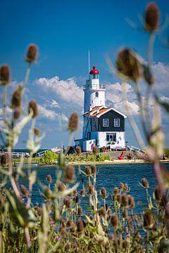 Le phare de Marken, Pays-Bas sur Rietje Bulthuis