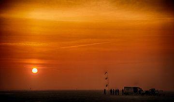 Sonnenuntergang auf Fanø van Dirk Bartschat