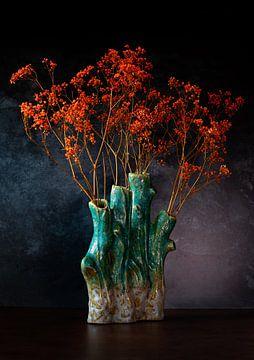 Orange Gypsophila. von Justin Sinner Pictures ( Fotograaf op Texel)