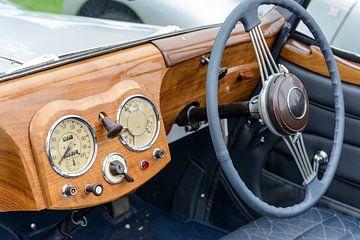 Tableau de bord de la voiture classique Triumph 1800 Roadster sur Sjoerd van der Wal