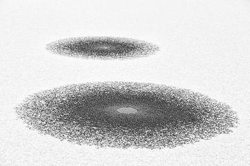 Twee gelaagde cirkels in het ijs met sneeuw van Tot Kijk Fotografie: natuur aan de muur
