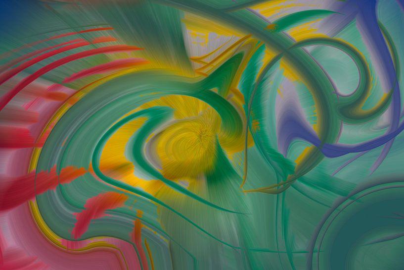 Digitale kunst nr. 1 van Leo Luijten