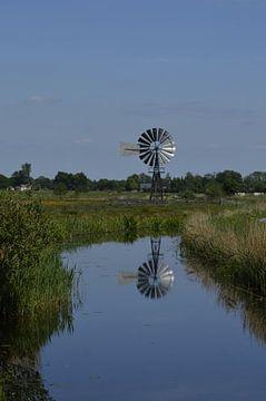 Landschaft mit landwirtschaftlicher Mühle von Harm Zwier