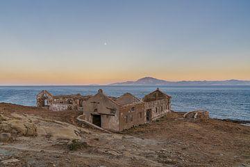 Sonnenuntergang und Mondaufgang von Robert de Boer