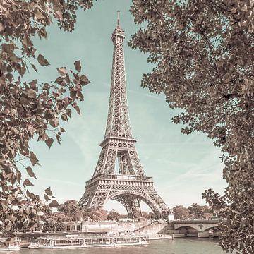 PARIS Eiffelturm & Seine | urbaner Vintage-Stil von Melanie Viola
