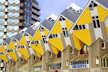 Gele Hollandse Kubuswoningen. van Jarretera Photos