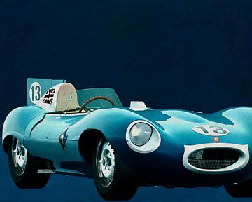 Jaguar Type D 1956 Voorkant
