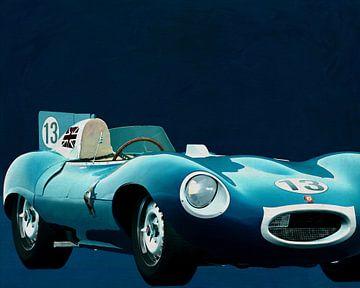 Jaguar Type D 1956 Voorkant van Jan Keteleer