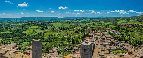 Uitzicht over San Gimignano van Jeroen de Jongh