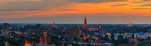 Groningen town at twilight.