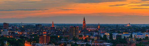 Groningen town at twilight. van Henk Meijer Photography