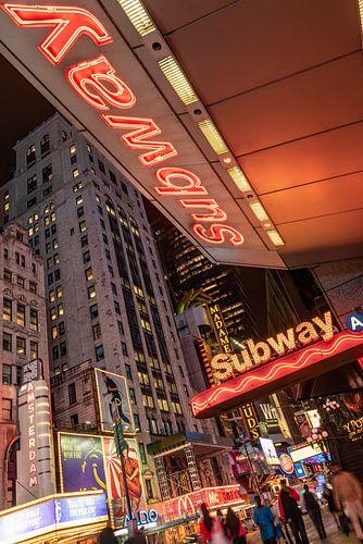 New york - subway neon lights time square von Erik van 't Hof