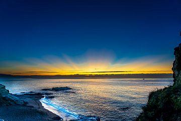 Sunset Costa del sol van Vincent Wienhoven