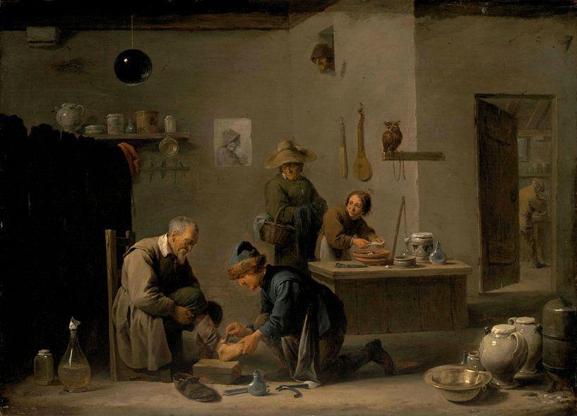 Bei den Dorfärzten, David Teniers II von Meesterlijcke Meesters