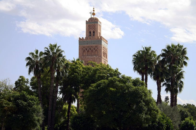 Koutoubia-moskee Marokko van Barbara Koppe