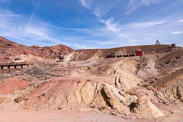 Kalifornien Calico Geisterstadt in der Wüste Kaliforniens - Alte Silbermine von Marianne van der Zee