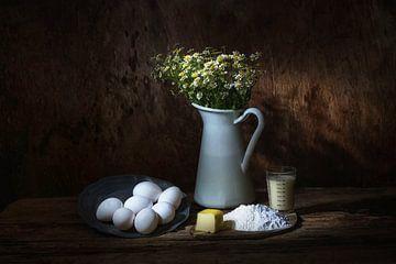 Stilleben mit Lebensmitteln in Weißtönen . von Saskia Dingemans