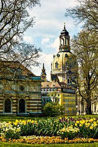 Frauenkirche Dresden im Frühling